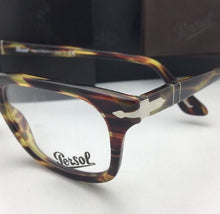 Load image into Gallery viewer, New PERSOL Eyeglasses 3029-V 938 52-19 145 Green Striped Brown Frames