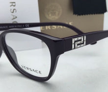 Load image into Gallery viewer, New VERSACE Eyeglasses VE 3189-B 5066 54-15 140 Violet Purple Frame w/ Crystals