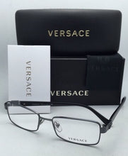 Load image into Gallery viewer, New VERSACE Eyeglasses VE 1209 1255 53-17 140 Anthracite Blue Gunmetal Frames