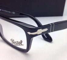 Load image into Gallery viewer, New PERSOL Rx-able Eyeglasses 3050-V 95 55-18 145 Rectangular Black Frames