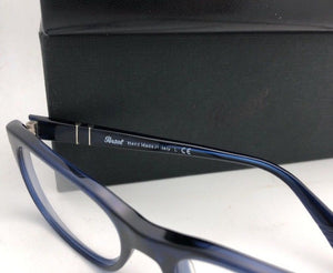New PERSOL Rx-able Eyeglasses Typewriter Edition 3095-V 181 55-18 145 Blue Frame