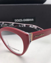 Load image into Gallery viewer, DOLCE & GABBANA Rx-able Eyeglasses DG 3246 3020 51-18 Red on Multi-Color Flowers