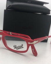 Load image into Gallery viewer, New Folding PERSOL Rx-able Eyeglasses 2886-V 999 51-22 145 Red Frames
