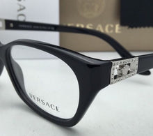 Load image into Gallery viewer, New VERSACE Rx-able Eyeglasses VE 3170-B GB1 Black & Silver Frames with Crystals