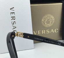 Load image into Gallery viewer, New VERSACE Eyeglasses VE 3205-B GB1 54-16 Black & Gold Frame with Crystals