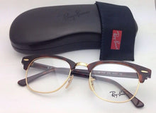 Load image into Gallery viewer, New RAY-BAN CLUBMASTER Rx-able Eyeglasses RB 5154 2372 49-21 Red Tortoise Frames
