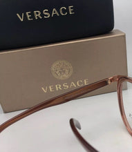 Load image into Gallery viewer, New VERSACE Rx-able Eyeglasses MOD.1249 1412 52-18 140 Bronze-Brown Transparent