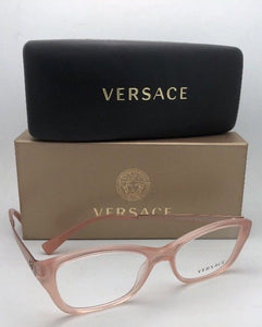 New VERSACE Eyeglasses MOD.3236 5218 52-16 140 Opal Pink Cat Eye Frames