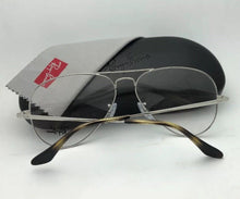 Load image into Gallery viewer, New RAY-BAN Aviator Rx-able Eyeglasses RB 6489 2970 55-14 140 Silver Blue Frames
