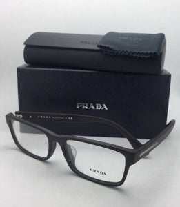 New PRADA Eyeglasses VPR 01S TV6-1O1 56-17 145 Brushed Brown Frame
