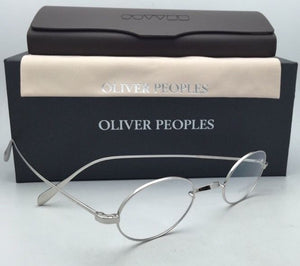 New OLIVER PEOPLES Eyeglasses CALIDOR OV 1185 43-24 Silver Frames Saddle Bridge