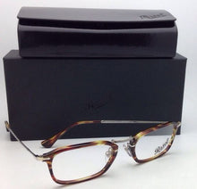 Load image into Gallery viewer, New PERSOL Eyeglasse 3044-V 938 52-21 140 Green Striped Brown Tortoise Frames