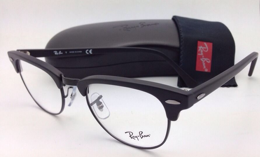 ray ban clubmaster sunglasses matte black