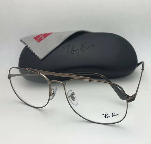 New RAY-BAN Aviators Eyeglasses THE GENERAL RB 6389 2531 57-16 145 Brown Frames