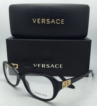 Load image into Gallery viewer, New VERSACE Rx-able Eyeglasses VE 3179-B GB1 54-16 Black and Gold Frames