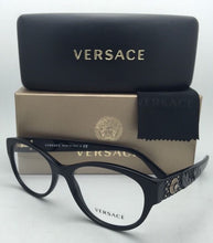 Load image into Gallery viewer, New VERSACE Rx-able Eyeglasses 3195 GB1 54-17 140 Black Frames