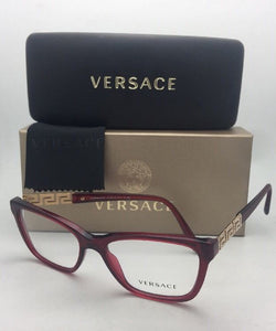 New VERSACE Eyeglasses VE 3192-B 388 52-16 140 Red Transparent Frame w/Crystals