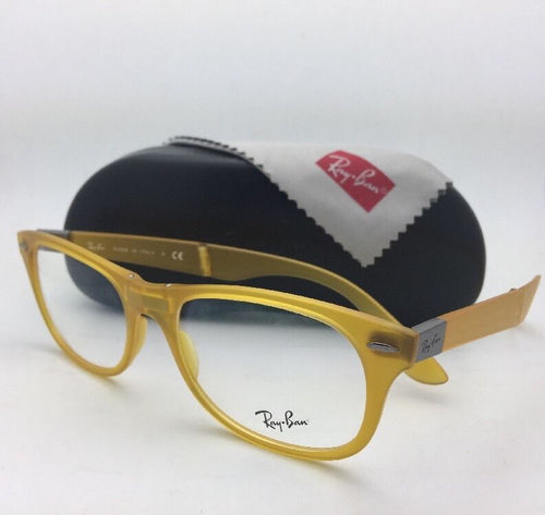 New FOLDING RAY-BAN Eyeglasses RB 4223-V 5519 55-18 Matte Yellow Wayfarer Frames