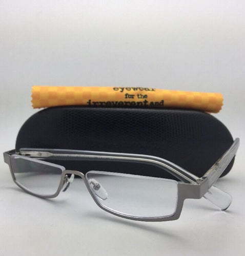 *SALE* New Readers EYE•BOBS Eyeglasses PEEK PERFORMER 2144 51 Gunmetal & Clear Frames