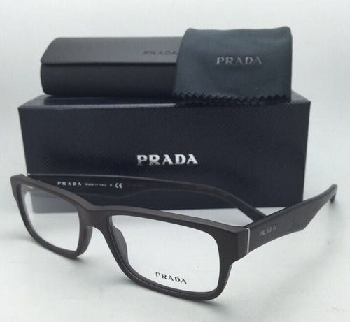 New PRADA Eyeglasses VPR 16M TV6-1O1 53-16 140 Brushed Brown & Havana Tortoise Frame