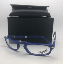 Load image into Gallery viewer, New Folding PERSOL Rx-able Eyeglasses 2886-V 958 51-22 145 Blue Frames