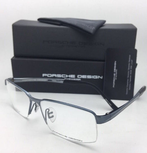 New PORSCHE DESIGN Titanium Eyeglasses P'8274 C 56-14 140 Dark Blue Frames