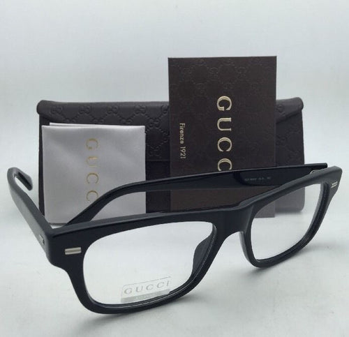 New GUCCI Rx-able Eyeglasses GG 1080 04UA 53-17 Black Frame