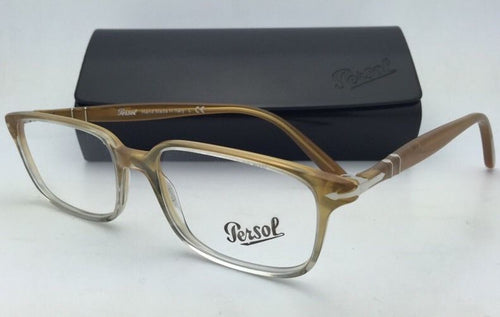 New PERSOL Rx-able Eyeglasses 3013-V 926 53-17 140 Yellow Gradient Grey Frames