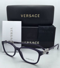 Load image into Gallery viewer, New VERSACE Eyeglasses VE 3181-B 5064 53-15 140 Eggplant Purple Frame w/Crystals