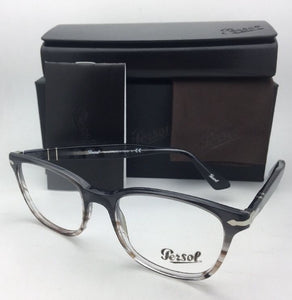 New PERSOL Rx-able Eyeglasses 3119-V 1012 53-19 145 Grey Gradient Brown Frames