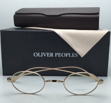 Load image into Gallery viewer, New OLIVER PEOPLES Eyeglasses CALIDOR OV 1185 5145 43-24 Gold Frames