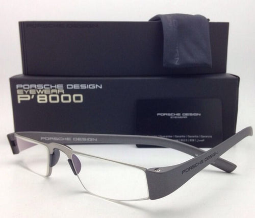 New Readers! PORSCHE DESIGN Eyeglasses P'8801 F 48-20 Silver Titanium Frame Readers