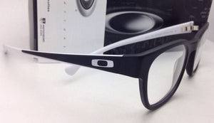 New OAKLEY Eyeglasses CLOVERLEAF OX 1078-0849 49-20 Satin Black & White Frame