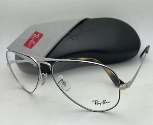 New RAY-BAN Aviator Rx-able Eyeglasses RB 6489 2970 55-14 140 Silver Blue Frames