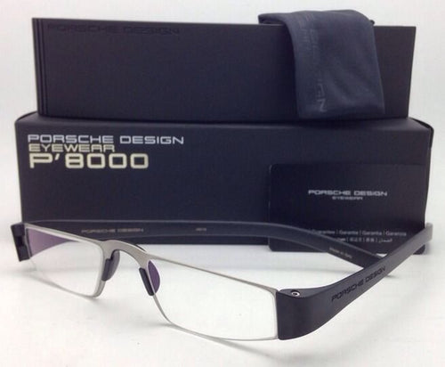 New Readers! PORSCHE DESIGN Eyeglasses P'8801 A 48-20 Silver Black ReaderFrames