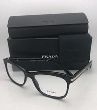 Load image into Gallery viewer, New PRADA Eyeglasses VPR 10R 1AB-1O1 55-17 140 Black & Gold Frame