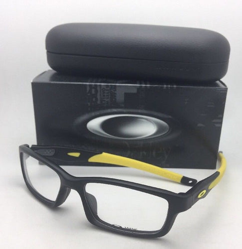 New OAKLEY Eyeglasses CROSSLINK OX8027-1353 53-17 140 Satin Black & Yellow Frame