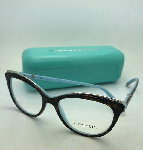 TIFFANY & CO. Eyeglasses TF 2147-B 8134 54-16 140 Tortoise on Blue with Crystals