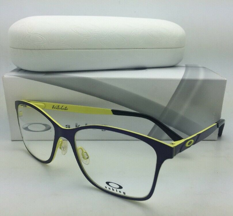 New OAKLEY Eyeglasses VALIDATE OX5097-0153 53-16 Royal Purple on Yellow Frames