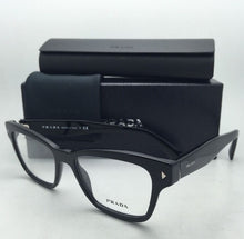 Load image into Gallery viewer, New PRADA Eyeglasses VPR 10S 1AB-1O1 51-17 140 Black Frames