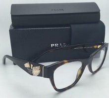 Load image into Gallery viewer, New PRADA Eyeglasses VPR 07R 2AU-1O1 51-18 Havana Tortoise Cat-Eye Frame w/ Stones