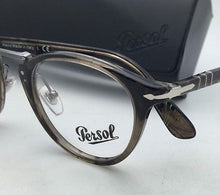 "Load image into Gallery viewer, ""Typewriter Edition"" PERSOL Rx-able Eyeglasses 3107-V 1019 Stripped Beige Frames"