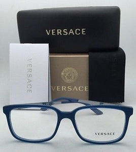 New VERSACE Eyeglasses VE 3182 5081 53-17 Transparent Blue Azure-Blue Sand Frame