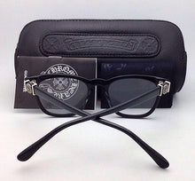 Load image into Gallery viewer, New CHROME HEARTS Eyeglasses LOUVIN CUP BK 48-19 Black Frames w/ Sterling Silver