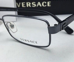 New VERSACE Eyeglasses VE 1209 1255 53-17 140 Anthracite Blue Gunmetal Frames