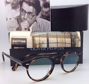 New OLIVER PEOPLES Eyeglasses GREGORY PECK OV 5186 1003 45-23 Round Cocobolo Frames