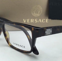 Load image into Gallery viewer, New VERSACE Eyeglasses 3198 108 55-17 Tortoise Rectangular Frames w/Spring Hinge