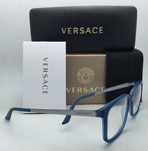 Load image into Gallery viewer, New VERSACE Eyeglasses VE 3182 5081 53-17 Transparent Blue Azure-Blue Sand Frame
