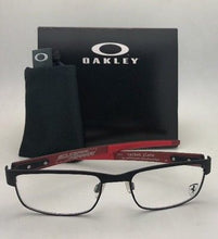 Load image into Gallery viewer, New Ferrari OAKLEY Eyeglasses CARBON PLATE OX5079-0453 Black Red w/ Carbon Fiber