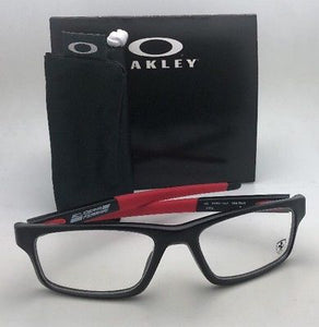 Scuderia Ferrari OAKLEY Eyeglasses CROSSLINK OX8037-1552 52-18 Black & Red Frame